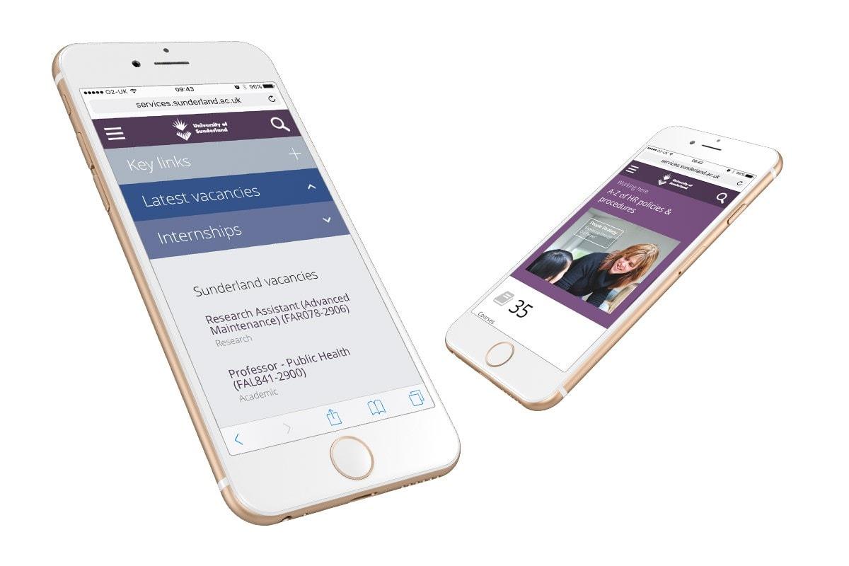 University of Sunderland mobile website
